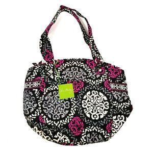 Vera Bradley NWT Glenna Shoulder Bag Tote Canterberry Magenta Pattern